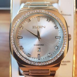 Nwt elgin men's watch gold